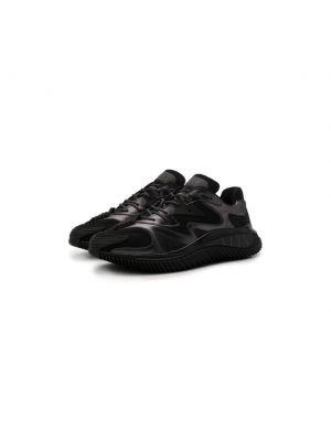 Черные текстильные кроссовки Valentino