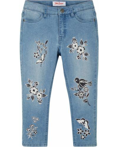Синие джинсы с вышивкой Bonprix