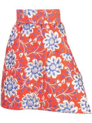 Нейлоновая асимметричная с завышенной талией юбка мини Maison Rabih Kayrouz