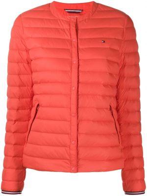 С рукавами красная дутая куртка со вставками на пуговицах Tommy Hilfiger