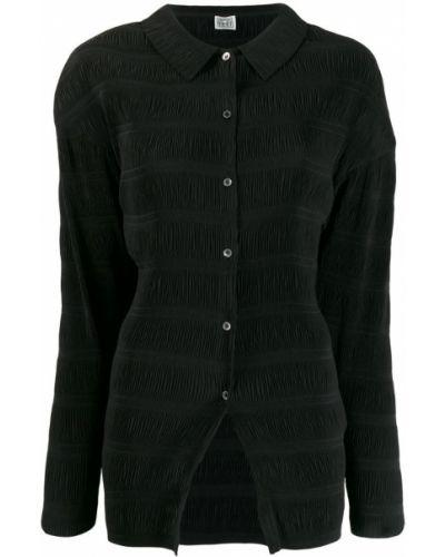 Блузка с длинным рукавом прямая черная Toteme