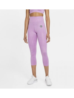Fioletowe legginsy do biegania z printem Nike