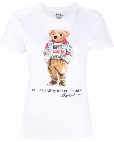 Белая хлопковая футболка Polo Ralph Lauren
