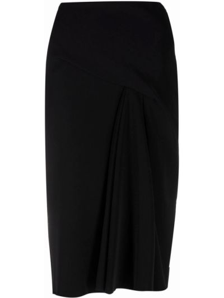 Черная юбка с завышенной талией Versace Collection