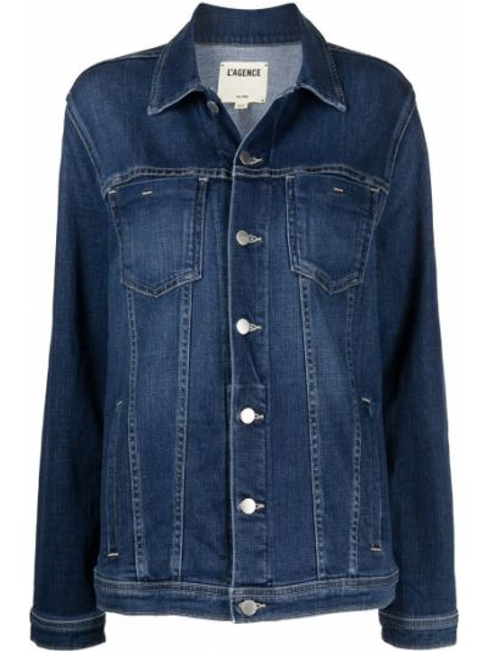 Джинсовая рубашка длинная - синяя L'agence