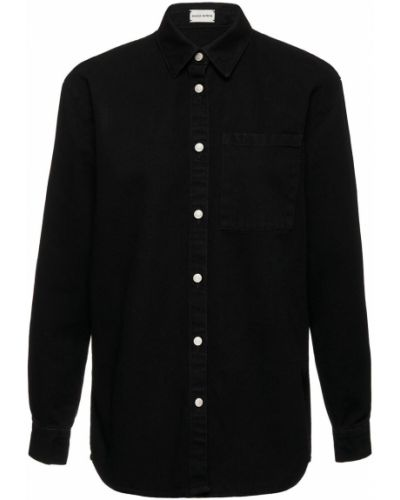 Джинсовая рубашка - черная Magda Butrym