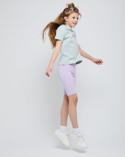 Облегающие фиолетовые трикотажные шорты Sela