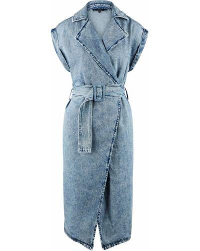 Синее джинсовое платье с запахом Love Republic
