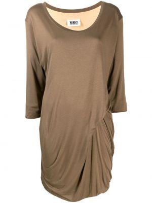 Приталенное драповое платье винтажное Maison Martin Margiela Pre-owned