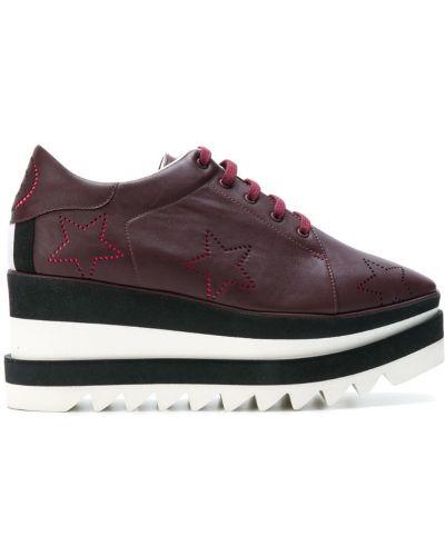 Красные кроссовки на платформе Stella Mccartney