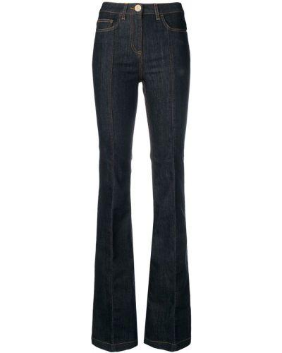 Широкие джинсы расклешенные синие Elisabetta Franchi