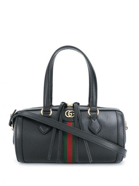 Кожаная черная маленькая сумка на молнии Gucci