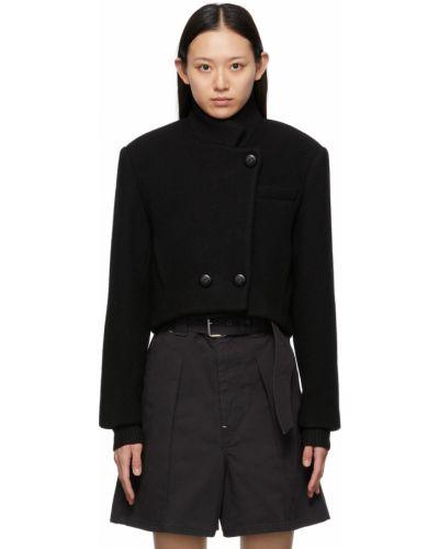 Черная куртка длинная Isabel Marant