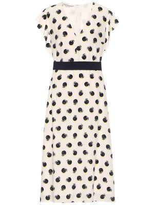 Шелковое платье миди - белое Stella Mccartney