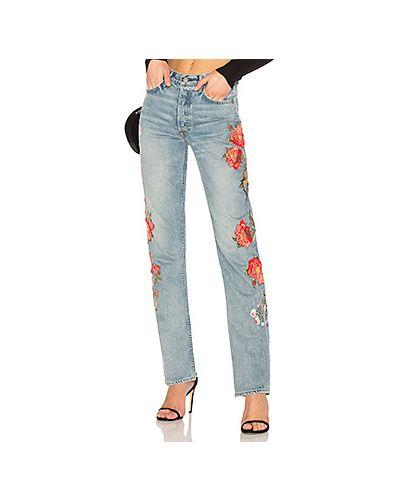 Прямые джинсы с вышивкой с эффектом потертости Grlfrnd