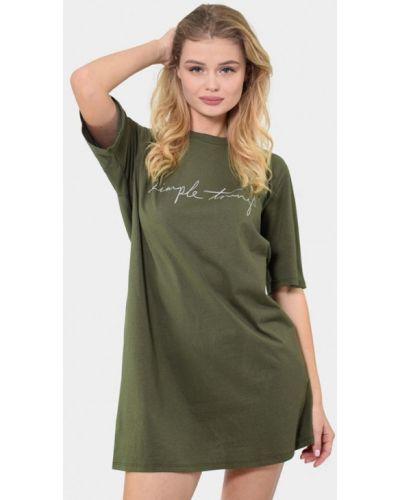 Домашнее зеленое платье N.el.