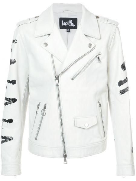 Biała kurtka skórzana Haculla