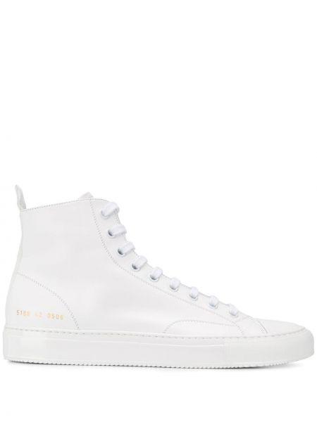Кожаные высокие кроссовки - белый Common Projects