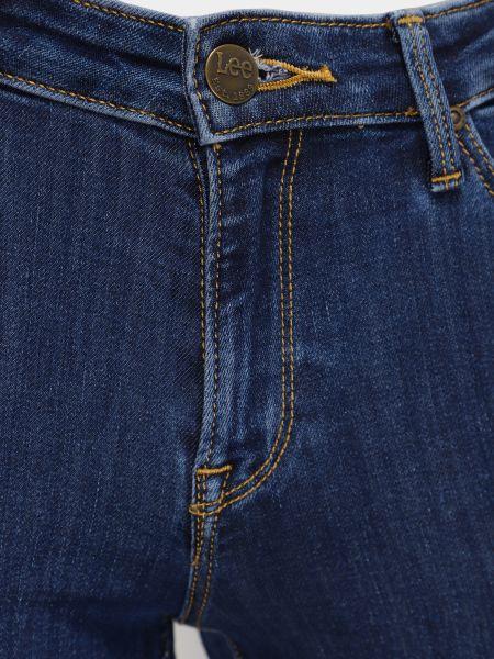 Синие хлопковые облегающие джинсы классические Lee