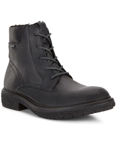 Черные кожаные ботинки на шнурках Ecco