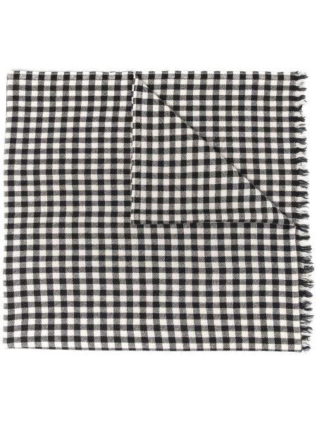 Z kaszmiru czarny szalik z printem Destin