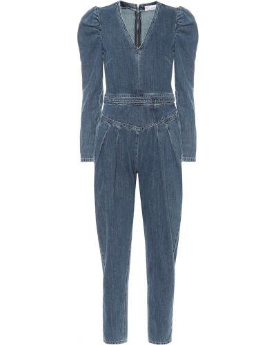 Ватный хлопковый синий джинсовый комбинезон Redvalentino