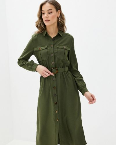 Зеленое платье-рубашка Yumi
