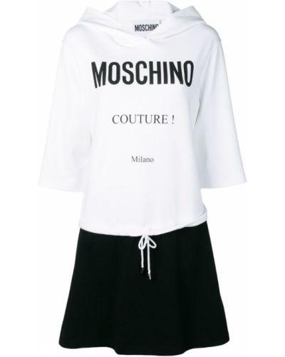 Платье миди с рукавами расклешенное Moschino