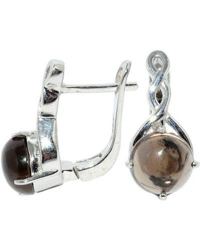 Серебряные серьги с топазом Silver Wings