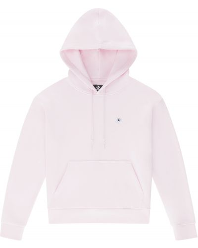 Флисовое худи - розовое Converse
