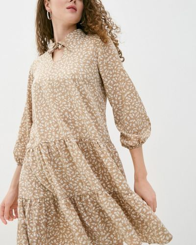 Коричневое прямое платье Imocean