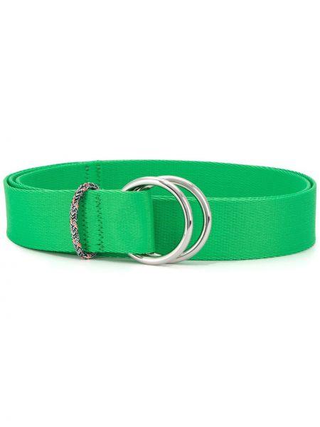 Зеленый тонкий ремень с пряжкой с поясом Ganni