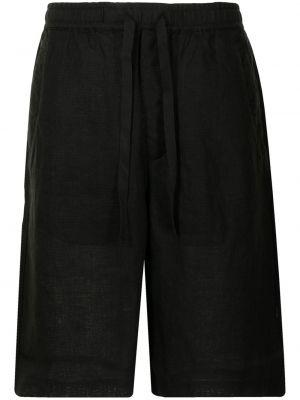 Черные шорты с завышенной талией Maharishi