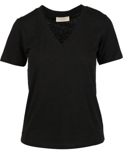 Czarny t-shirt Momoni