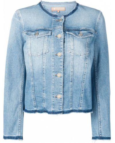 Синяя джинсовая куртка на пуговицах 7 For All Mankind