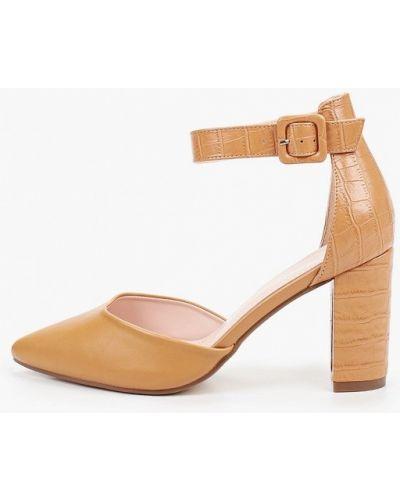 Коричневые кожаные туфли Ideal Shoes®