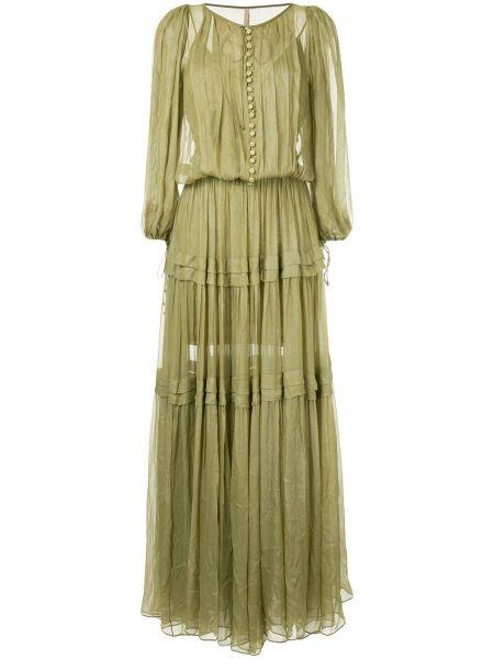 Платье макси на пуговицах на шнуровке Maria Lucia Hohan