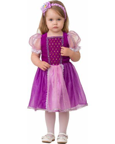 Костюмный текстильный фиолетовый карнавальный костюм Batik