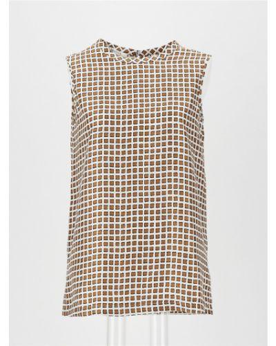 Коричневая блузка Maxmara