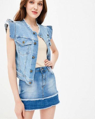 Синяя жилетка джинсовая Fornarina