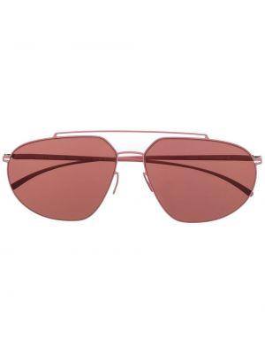 Okulary srebrne - różowe Mykita