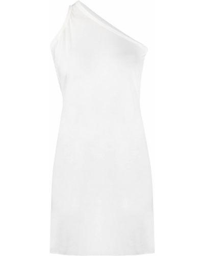 Biała długa kamizelka bez rękawów bawełniana Rick Owens