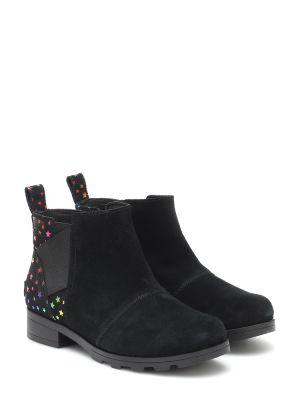 Skórzany czarny buty Sorel Kids