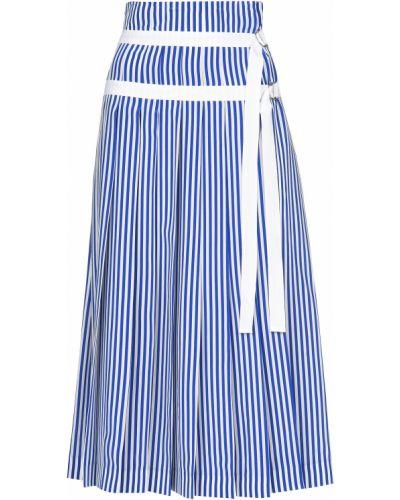 Шелковая юбка - синяя Joseph