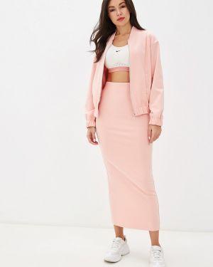 Юбочный костюм розовый Malaeva