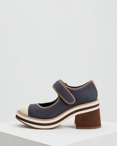 Кожаные туфли на каблуке Marni