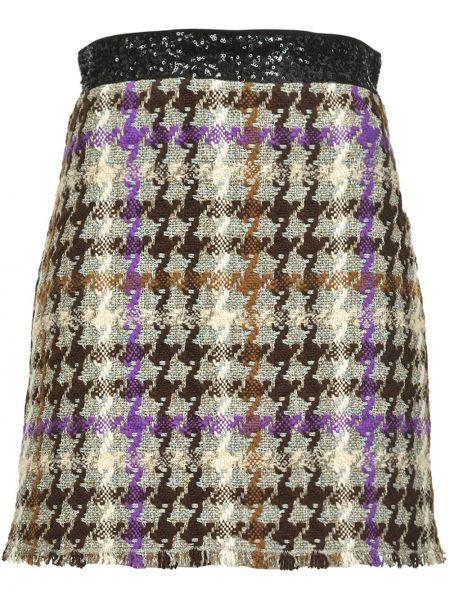 Bawełna prosto wełniany spódnica mini z haftem Pinko