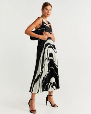 Платье миди на бретелях с V-образным вырезом Mango