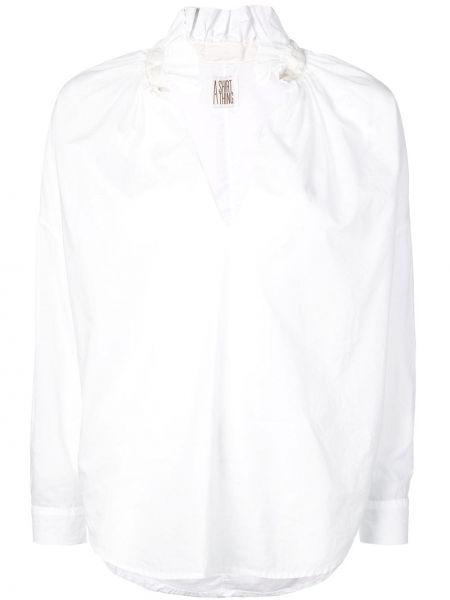 Топ с оборками на пуговицах A Shirt Thing