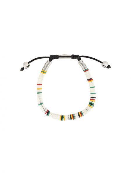 Черный браслет с бисером на пуговицах Nialaya Jewelry